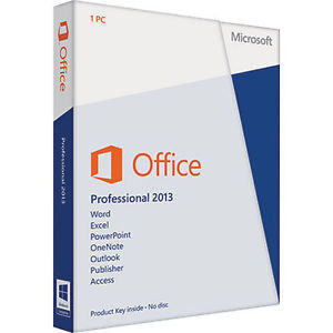 Professionnel de Microsoft Office 2013 d'activation de DVD plus le bit 64 véritable