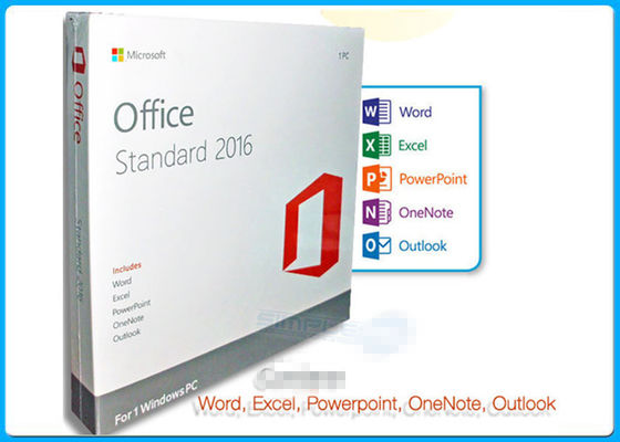 PC standard DVD du permis 1 de Microsoft Office 2016 en ligne d'activation pro