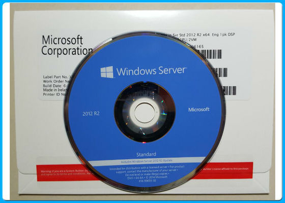 Boîte au détail 1PK DVD 2CPU de Windows Server 2012 standard de l'anglais R2/paquet OEM de VM